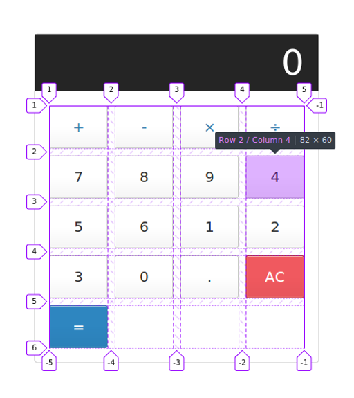 Learn CSS Grid by building a simple Calculator Layout