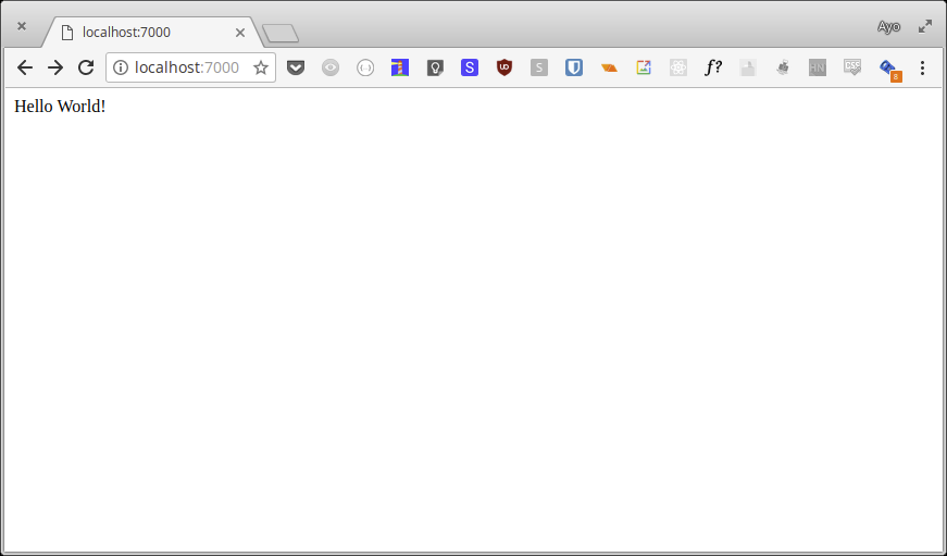 Hello World in Chrome